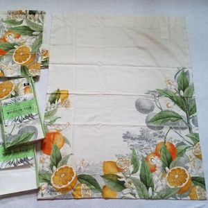 Other - 2 pks NY Botanical Garden Orange Da Luna curtains